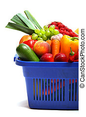 A shopping basket full of fresh produce