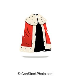 Vector King Mantle Cartoon Illustration. - Handsome king....