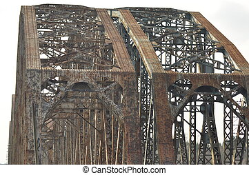 Railway bridge Torah, steel construction Crossing the river...