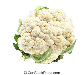 Fresh cauliflower isolated on white background - Fresh...