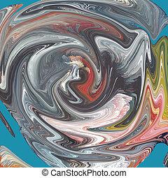 Abstract pinting