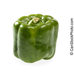 Green pepper on a white background