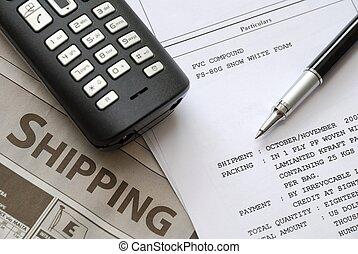 envío, facturas, documentos