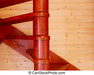 spiral stair - fragment spiral stair from house interior