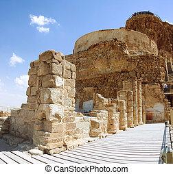 ruins of fortress Masada