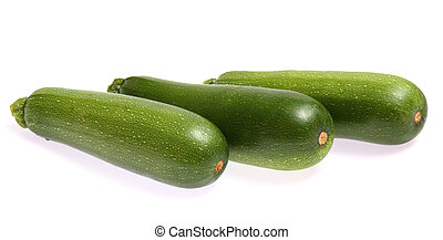 Zucchinis isolated on white background
