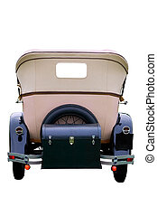 Rear of a vintage car - Rear end of a vintage car, isolated...