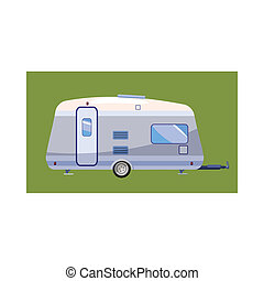 Mobil home icon, cartoon style - Mobil home icon in cartoon...
