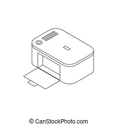 Photo printer icon, isometric 3d style - Photo printer icon...