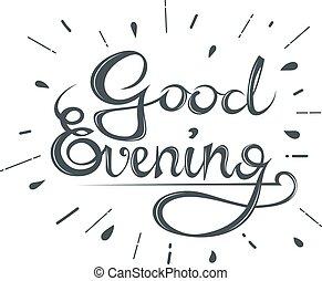 Good Evening Clip Art
