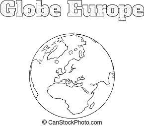 Globe Europe view