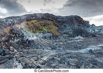 Volcanic Wasteland of Krafla - Lava desert in the famous...