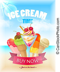 Ice Cream Poster in bright colors for any design