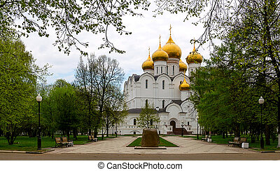 Cathedral of Assumption - Assumption cathedral at Yaroslavl...