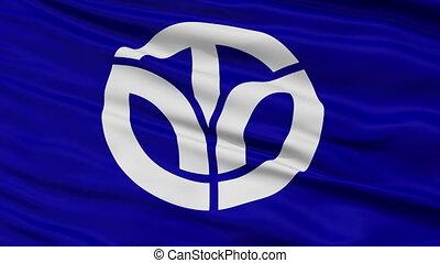 Fukui Prefecture Close Up Flag - Flag of Fukui Prefecture,...