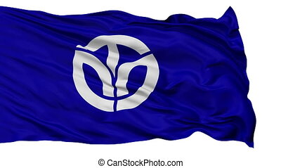 Fukui Prefecture Isolated Flag - Flag of Fukui Prefecture,...