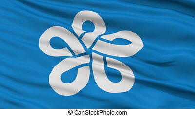 Fukuoka Prefecture Close Up Flag - Flag of Fukuoka...