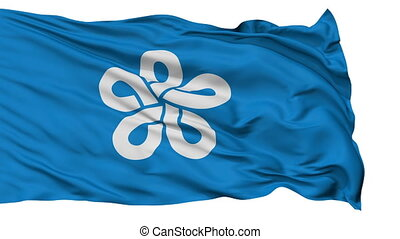 Fukuoka Prefecture Isolated Flag - Flag of Fukuoka...