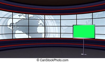 News TV Studio Set -101 - News TV Studio Set 101 - Virtual...
