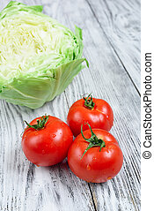 Cabbage and tomatoes