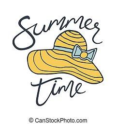 Beach hat Summer background Logo design for banner, poster,...