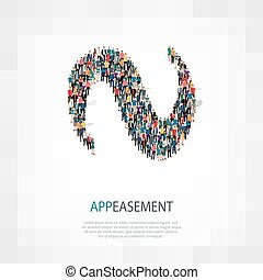appeasement people 3d - Isometric set of styles, appeasement...