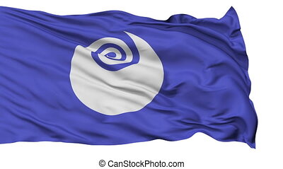 Ibaraki Prefecture Isolated Waving - Flag of Ibaraki...