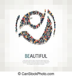 beautiful people sign 3d