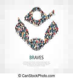 braves people sign 3d