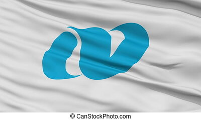 Nagasaki Prefecture Close Up Flag - Flag of Nagasaki...
