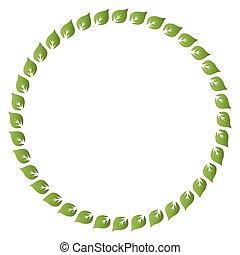 Fresh green leaves vector border - Fresh green leaves vector...