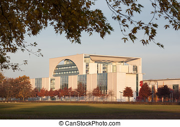 German Chancellery Building in Berlin, Germany -...