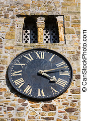 church clock - Traditional clock on an old church, Sussex,...