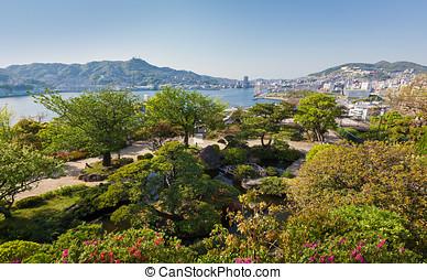 Glover Garden in Nagasaki, Japan - View from Glover Garden...