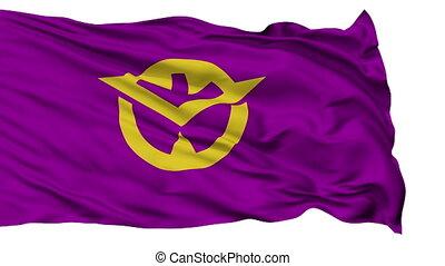 Okayama Prefecture Isolated Flag - Flag of Okayama...