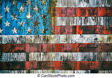 American flag background - Stylized image of the American...