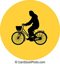bicyclist silhouette vector