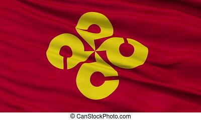 Shimane Prefecture Close Up Flag - Flag of Shimane...