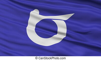 Tottori Prefecture Close Up Flag - Flag of Tottori...