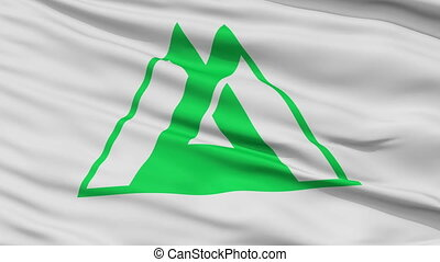 Toyama Prefecture Close Up Flag - Flag of Toyama Prefecture,...