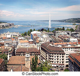 view of Geneva - Aerial view of Geneva