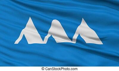 Yamagata Prefecture Close Up Flag - Flag of Yamagata...