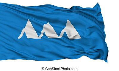 Yamagata Prefecture Isolated Flag - Flag of Yamagata...