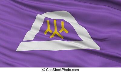 Yamanashi Prefecture Close Up Flag - Flag of Yamanashi...