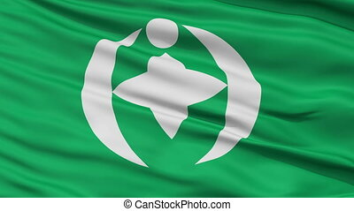 Chiba Capital City Close Up Flag - Chiba Capital City Flag,...