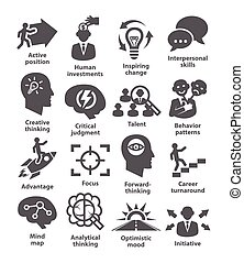 Business management icons. Pack 19. - Business management...