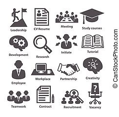 Business management icons. Pack 20. - Business management...
