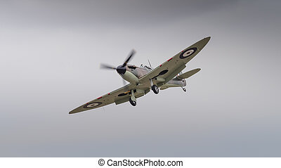Vintage Spitfire fighter aircraft - Supermarine Spitfire...