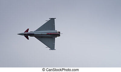 Typhoon fighter aircraft - A Typhoon fighter aircraft in...