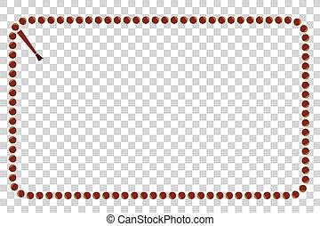 Frame - Prayer Beads - Rectangle - Vector Frame - Rectangle...